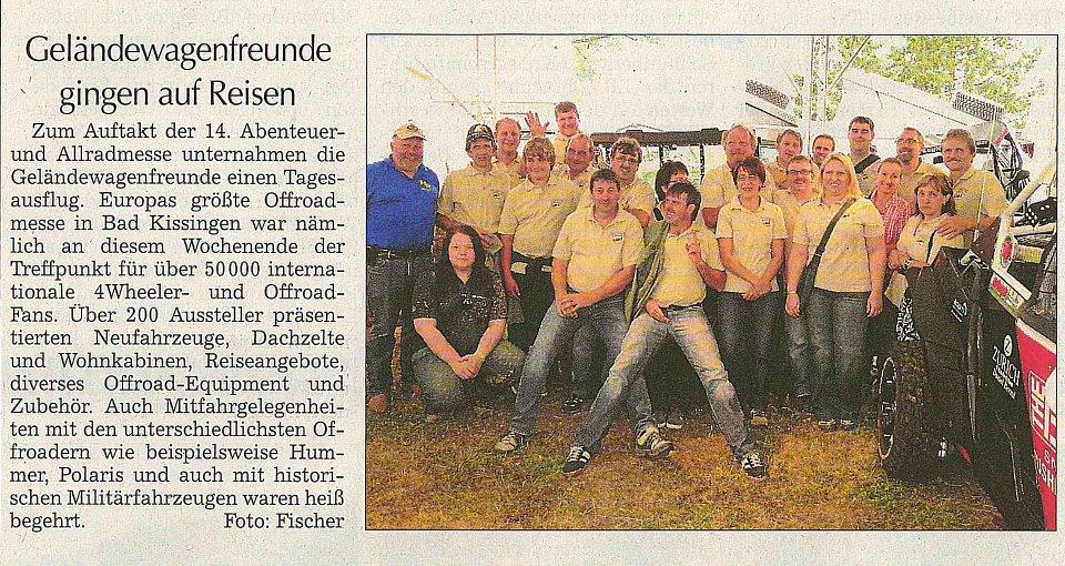 Bericht zu unserem Ausflug - Kötztinger Zeitung vom 11.06.2012