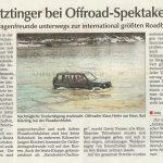 Kötztinger Zeitung vom 13. Dezember 2012 - Bericht zur 4x4 Gradisca 2012