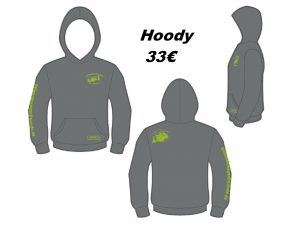 Hoody Dark Grey, TeeJays #tj5430, Druck Kiwi, Größe S-3X