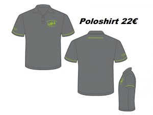 Poloshirt Anthrazit, Hakro #803, Druck Kiwi, Größe XS-3XL