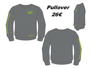 Sweatshirt Anthrazit, Hakro #471, Druck Kiwi, Größe XS-3XL