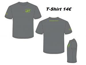 T-Shirt Anthrazit, Hakro #292, Druck Kiwi, Größe XS-3XL