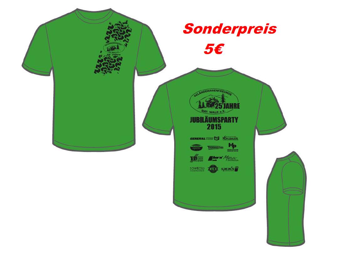 T-Shirt zu unserem Jubiläum (Abbildung Rückseite entspricht nicht der endgültigen Version – Anordnung Logos und Datum)